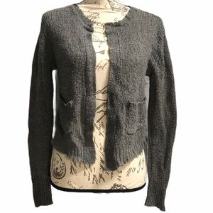 Free People mohair wool blend open front cardigan